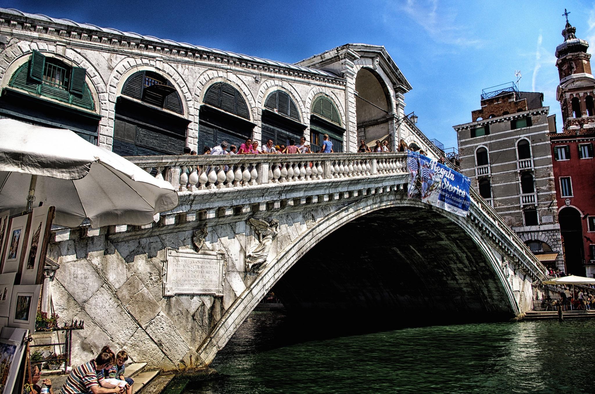 Adamo Smok Италия, Венеция, мост Ривальта