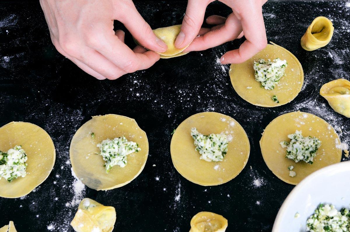 """Равиоли с начинкой из риккоты и зелени  """" Итальянская кухня"""""""