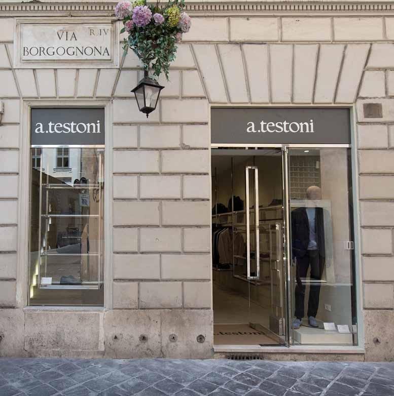 Мужской магазин a.testoni в Риме
