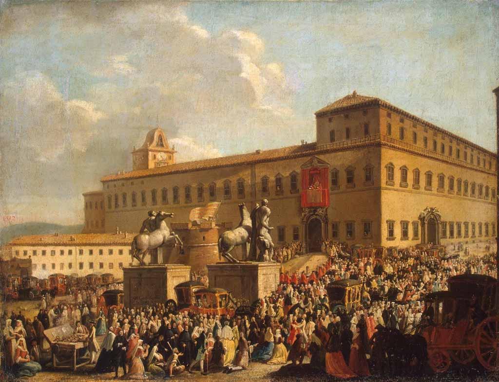 """Антонио Чочи, """"Праздник напротив Палаццо дель Квиринале"""", 1767"""