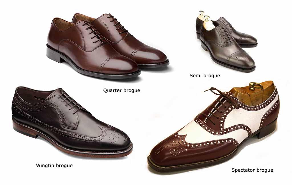 Виды мужской обуви: Мужские туфли броги