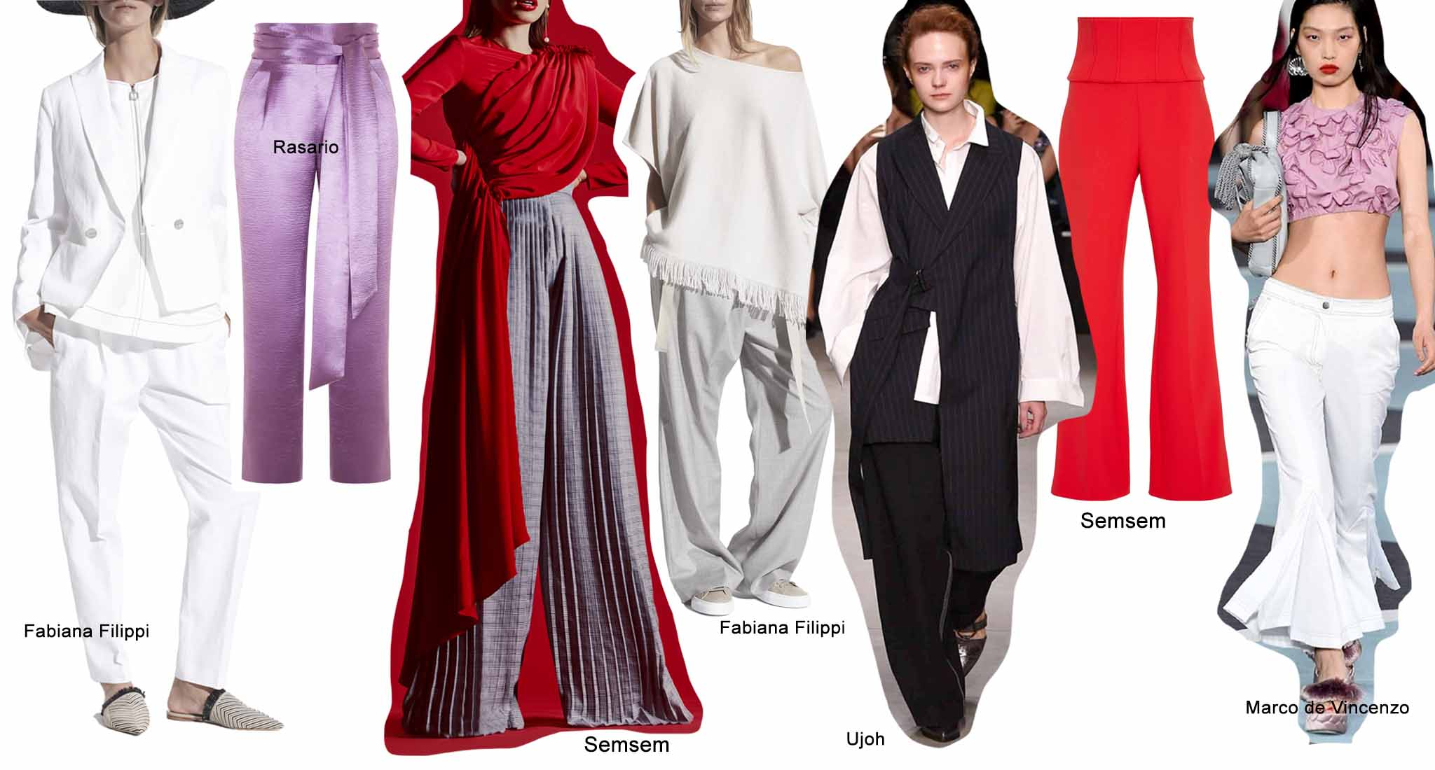 Модные тренды весна лето 2018 года, брюки
