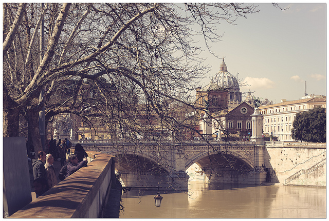 "CC-BY-NC-ND Antonio Culicigno  ""Ponte Vittorio Emanuele II"", Roma, 16/03/2013"
