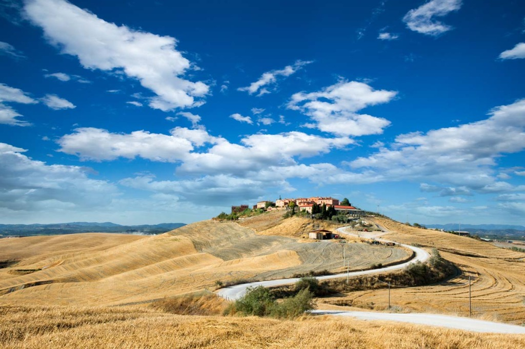 Village on Hill - Tuscany