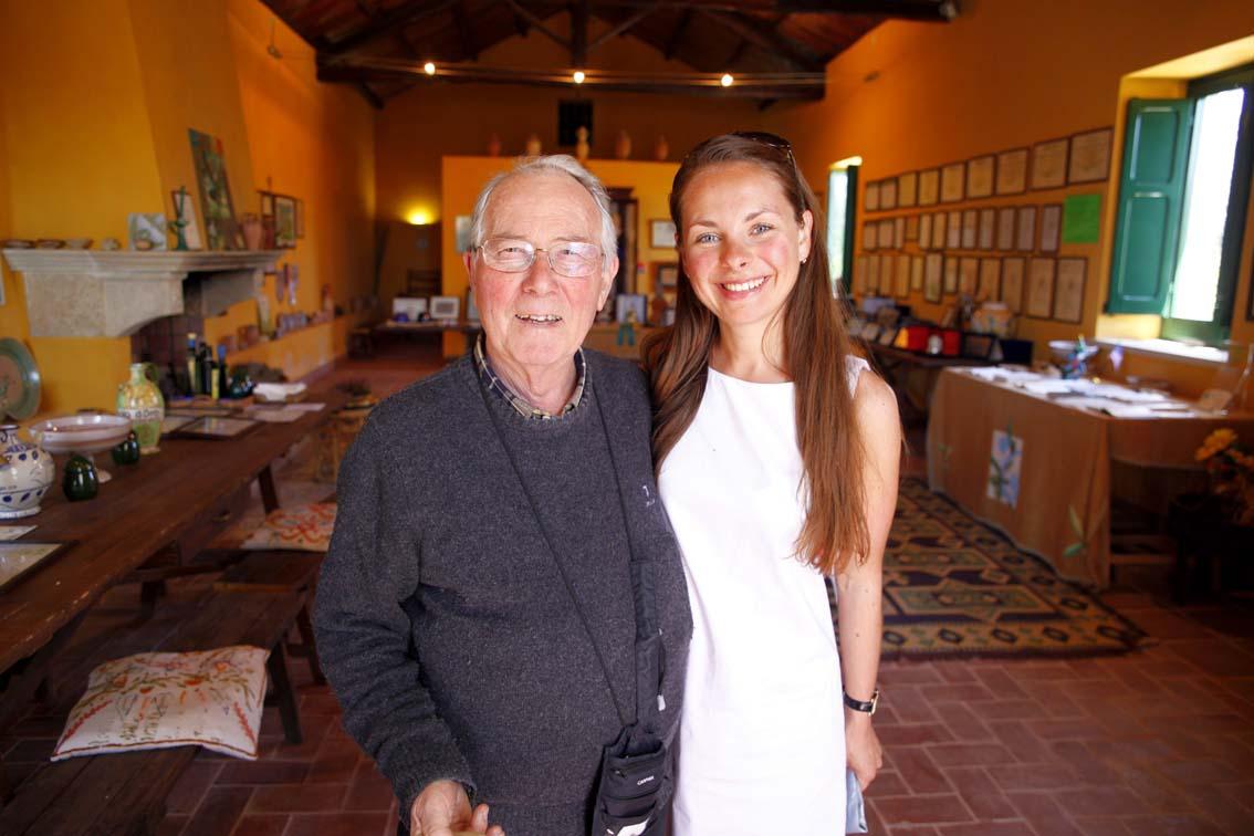 Наталья и господин Никола Титоне, лучший производитель оливкового масла в мире в 2012г