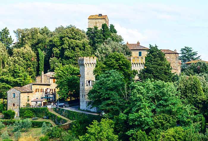Дорогами Кьянти  Панцано-ин-Кьянти (Panzano in Chianti) - Пьеве-ди-Сан-Леолино