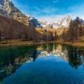 """""""Голубое озеро"""", Червинья, Италия"""