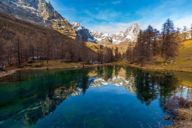 """""""Синее озеро"""", Червинья, Италия"""
