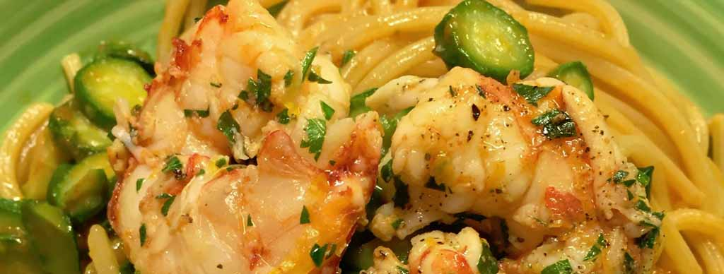 Спагетти с креветками и цуккини рецепт