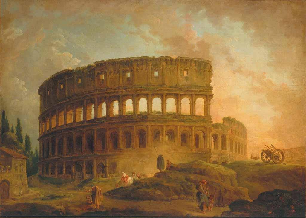 Hubert Robert, Colosseo, 1752-73, olio su tela