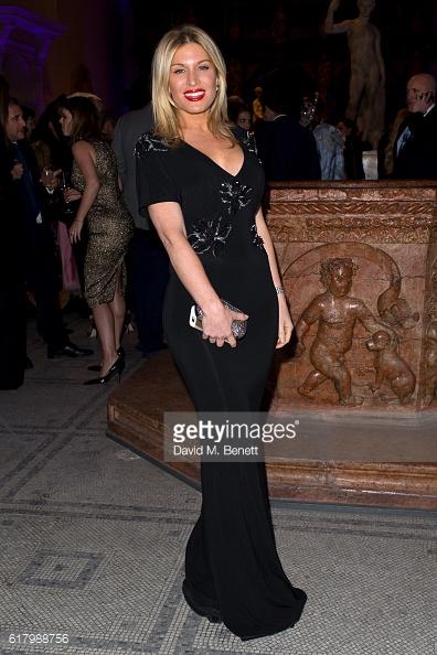 Хофит Голан в черном платье от Blumarine
