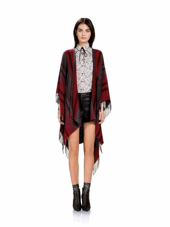 Модные пончо 2017