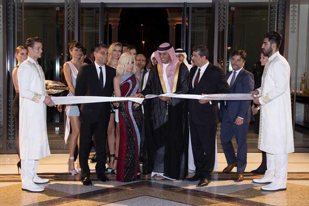 Helena Christensen;Jonathan Akeroyd;Natasha Poly;Donatella Versace;Sheikh Tariq Bin Faisal Al Qassimi;Raza Jafar
