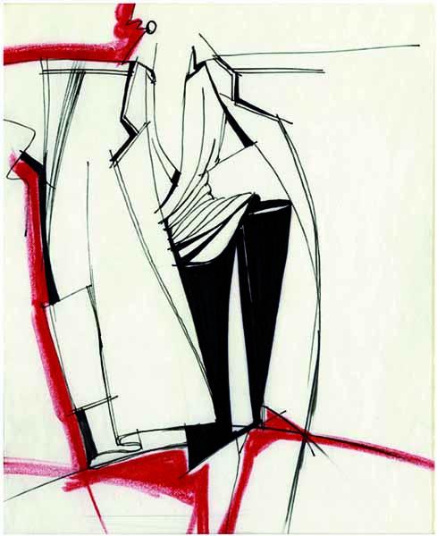 Выставка рисунков Джанфранко Ферре