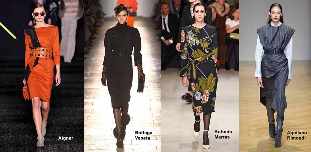 Платья осень-зима 2017-2018 модные тенденции
