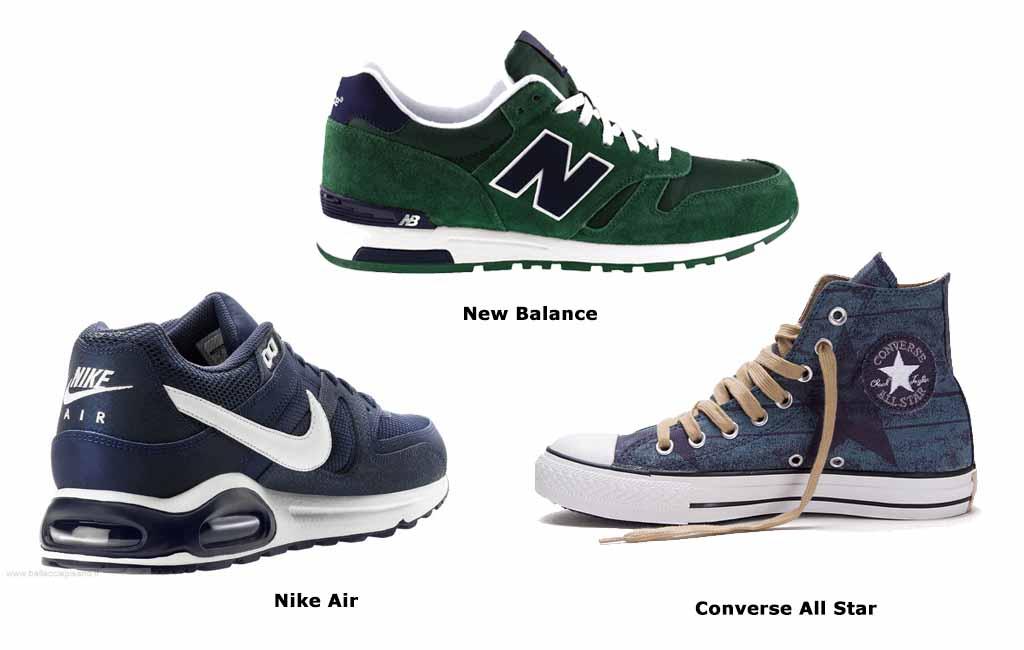 Виды мужской спортивной обуви