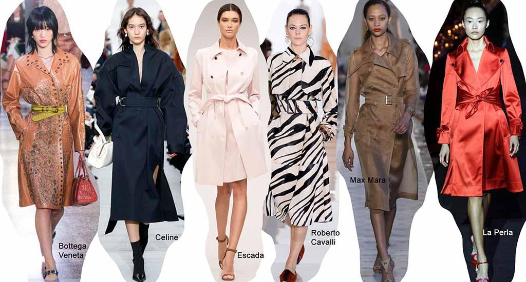 модные тренды весна лето 2018 года: Пальто тренчкот